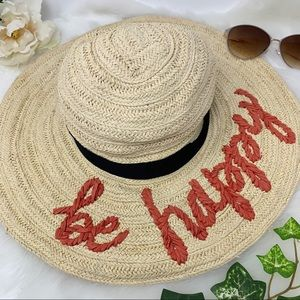 SAN DIEGO HAT COMPANY straw hat Be Happy